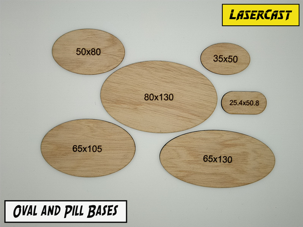 Image of Oval and pill bases