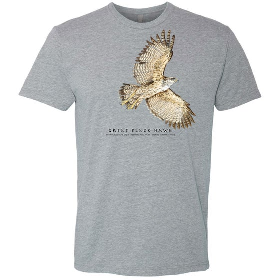 Image of Great Black Hawk T-shirt-heather gray