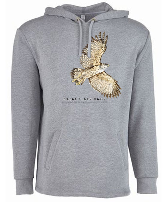 Image of Great Black Hawk lightweight Hoody