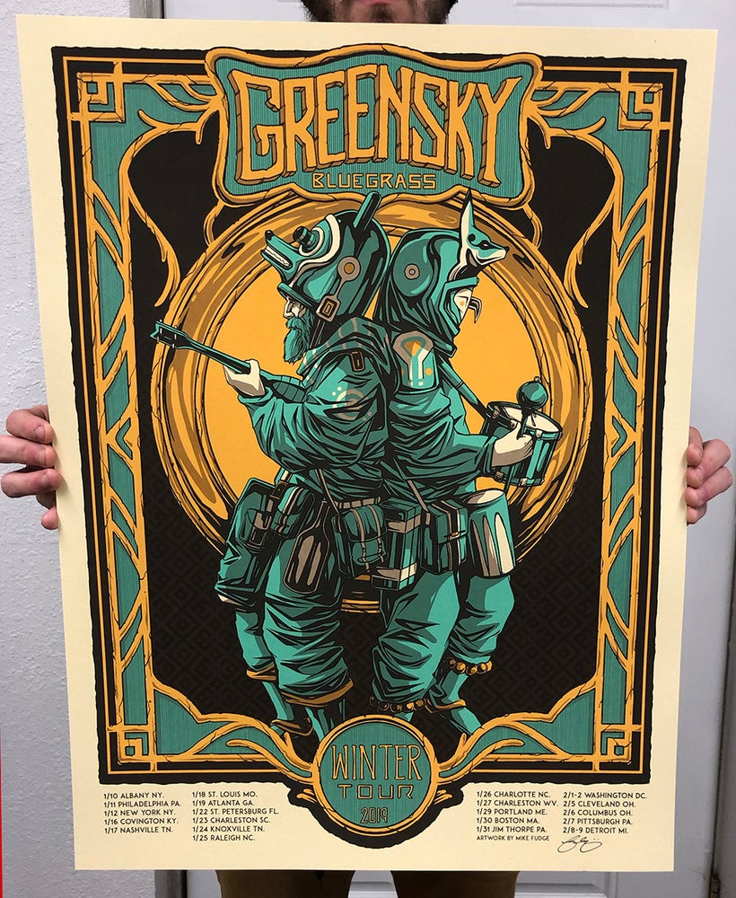Image of Greensky Bluegrass - Winter Tour Poster