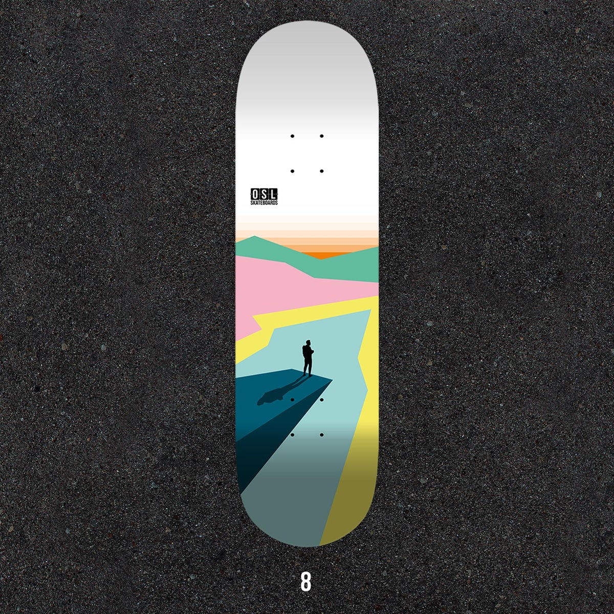Image of OSL Skateboards. Trolltunga, 8""