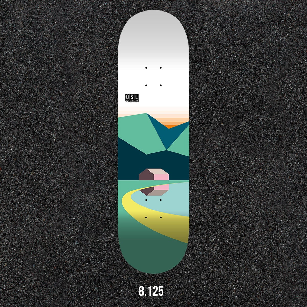 Image of OSL Skateboards. Naust, 8.125""