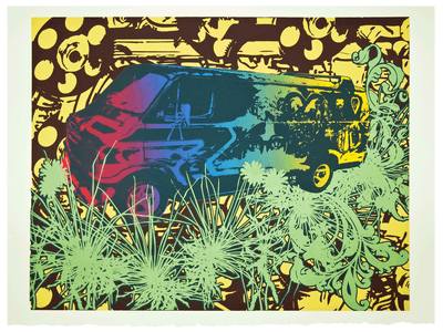 Image of Limited Edition Silkscreen Print – Dodge Van (Artist Proof)