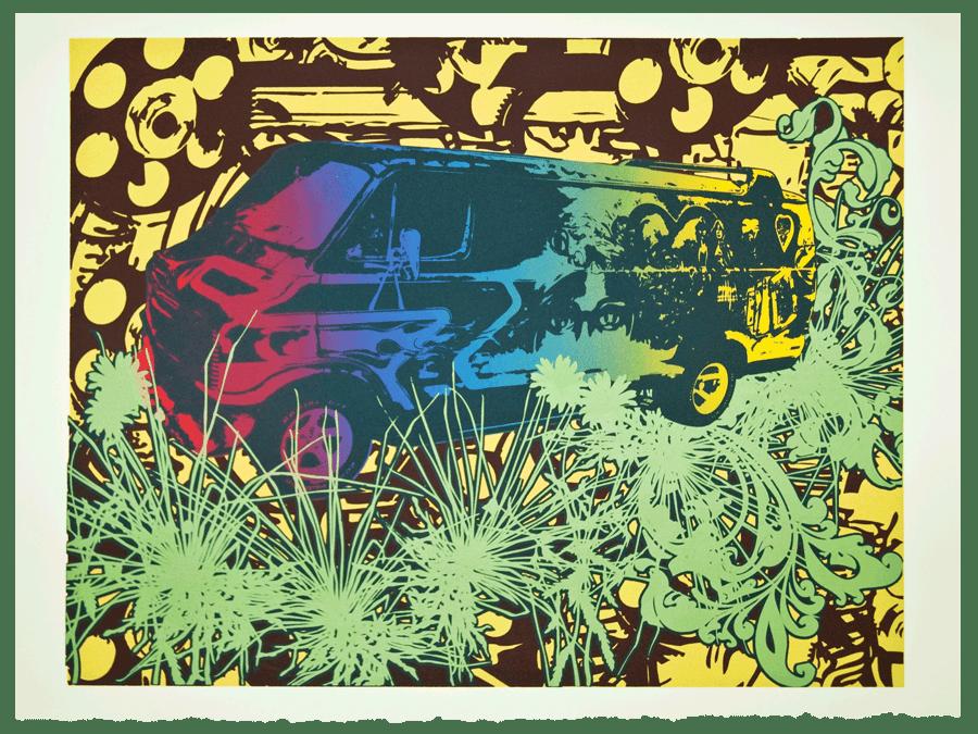 Image of Limited Edition Silkscreen Print – Dodge Van (Artist Proof)