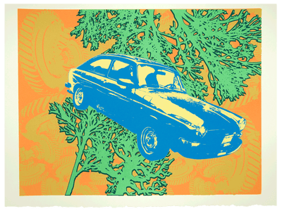 Image of Limited Edition Silkscreen Print – VW Fastback (St.Tropez Edition)