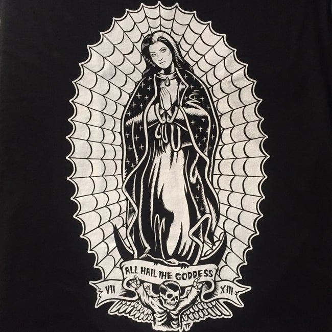 Image of All Hail the Goddess, Virgin Lily of Guadalupe II Women's T-shirt