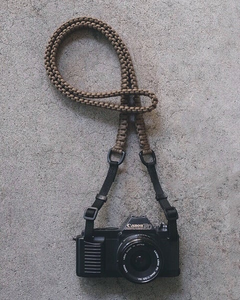 Image of Paracord shoulder/neck strap with original strap connectors