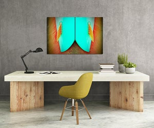 Image of AQUA TWIN - (Metal or Canvas)