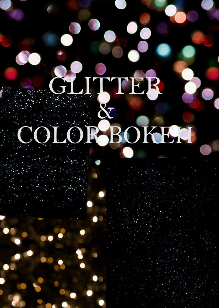Image of Glitter & Color Bokeh Textures