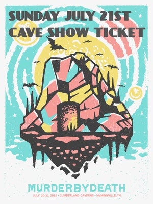 Image of Will call ticket for Sunday July 21st Cave Show w/ poster