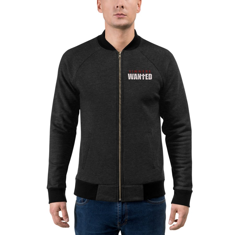 Image of Sinners Wanted Bomber Jacket
