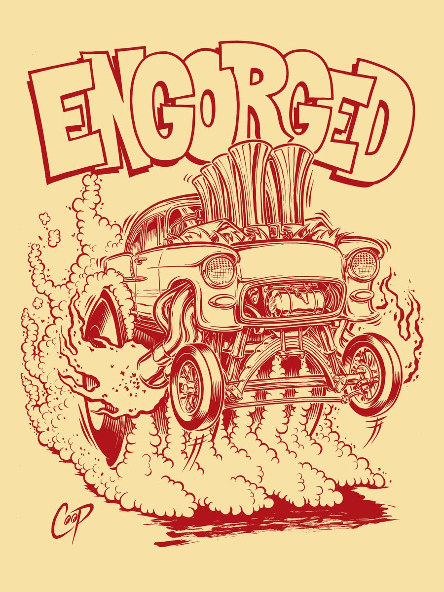 Image of ENGORGED silkscreen print (almost Sold Out!)