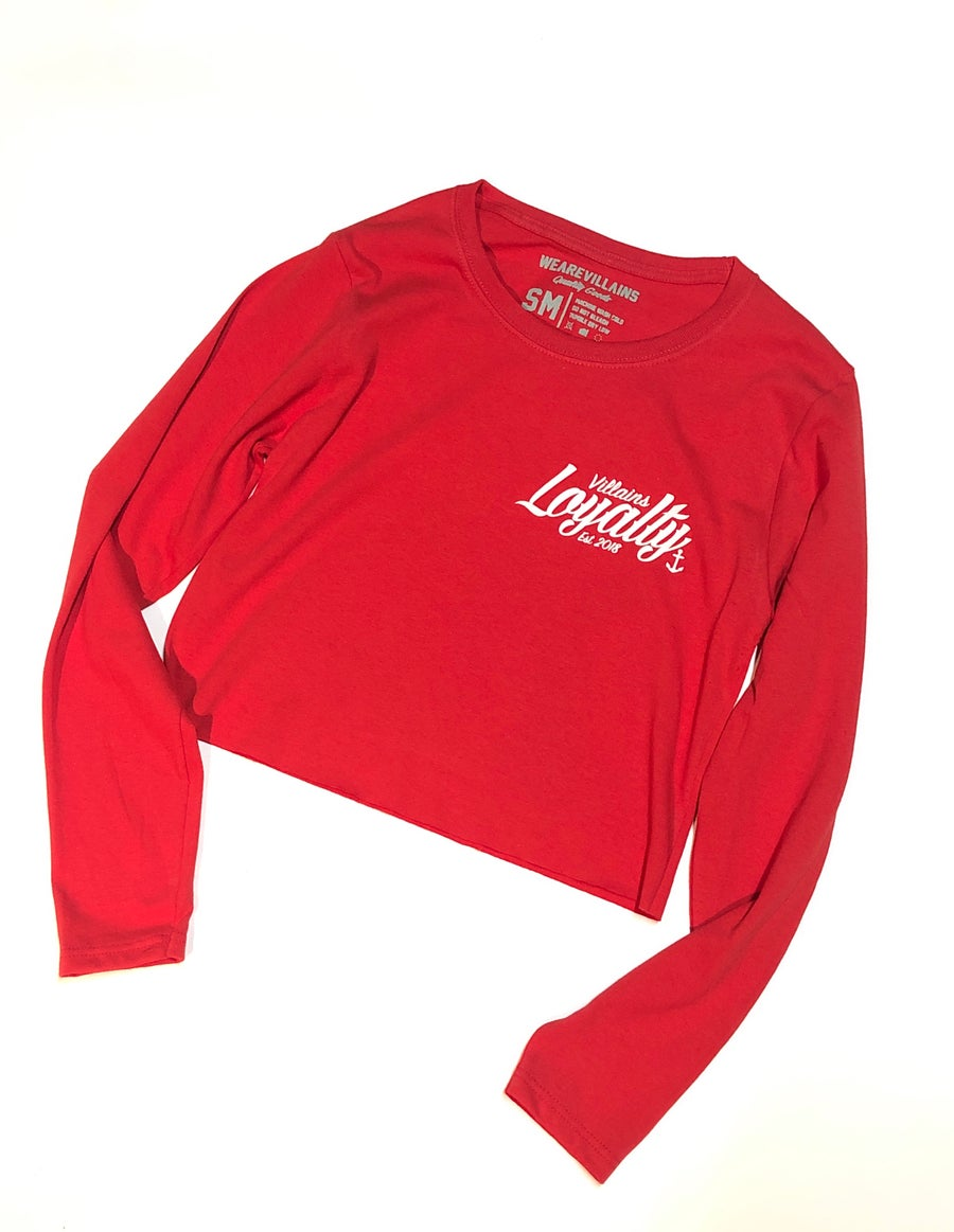 Image of Loyalty women's crop long sleeve