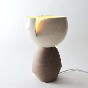 Image of Split Accent Light - gloss white & taupe
