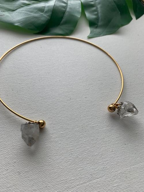 Image of JEVA II • Apophyllite Circle Necklace