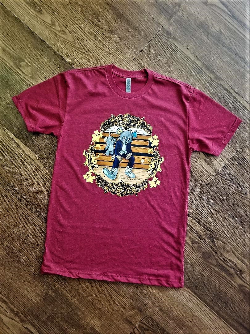 Image of Inzzo's Shed College Dropout Tee (Maroon)