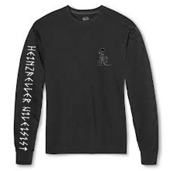 Image of Heinzfeller Nileisist black long sleeve T-shirt