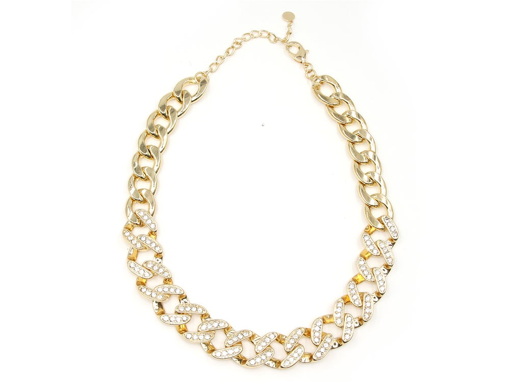 Image of Jumbo Cuban Link Diamond Crush Necklace