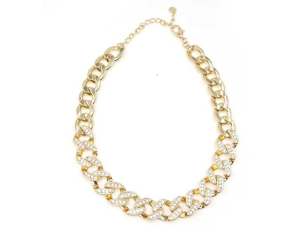 Image of Jumbo Cuban Link Diamond Crush Necklace