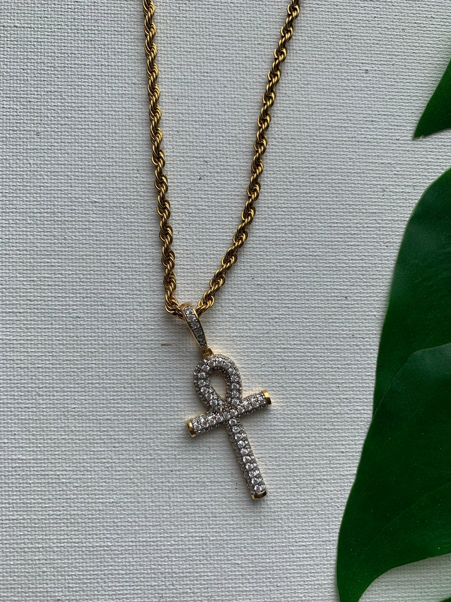 Image of DESTINY • CZ Ankh Necklace