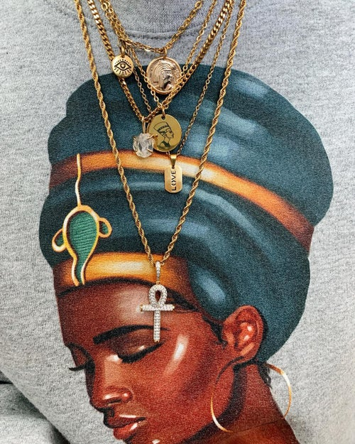 Image of SHE • Nefertiti pendant coin necklace