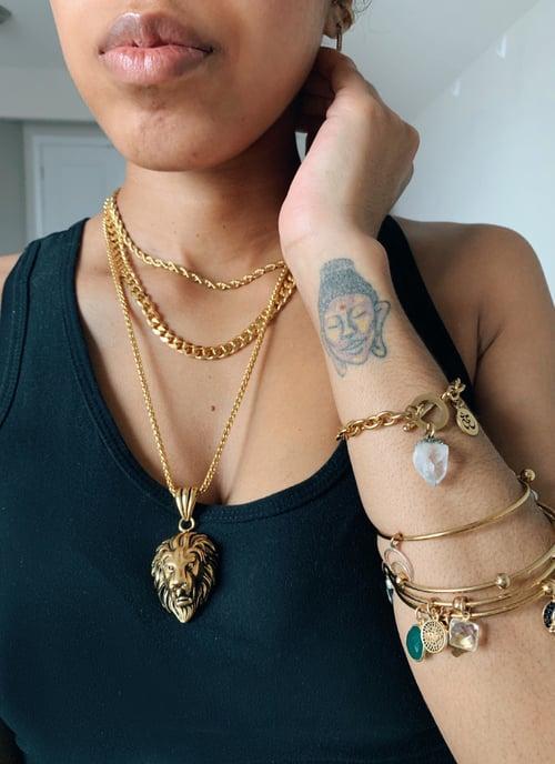Image of KINGIN' • Lion Pendant Necklace
