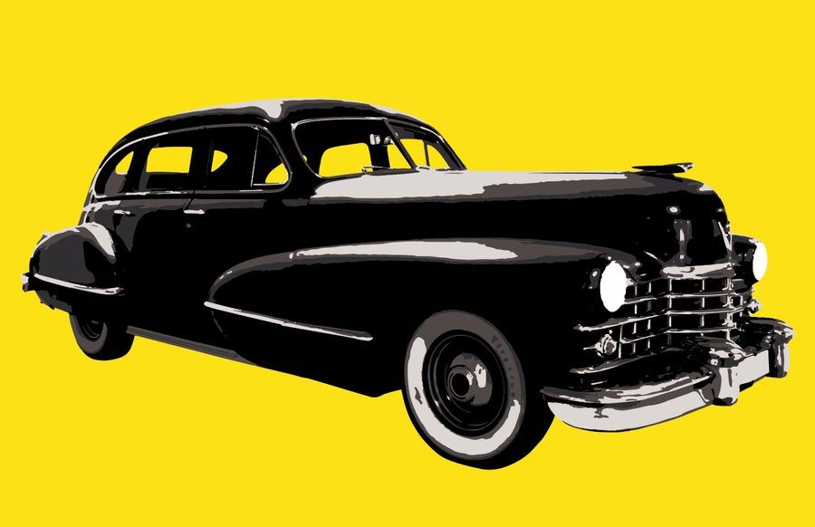 Image of Black Car - Art Print