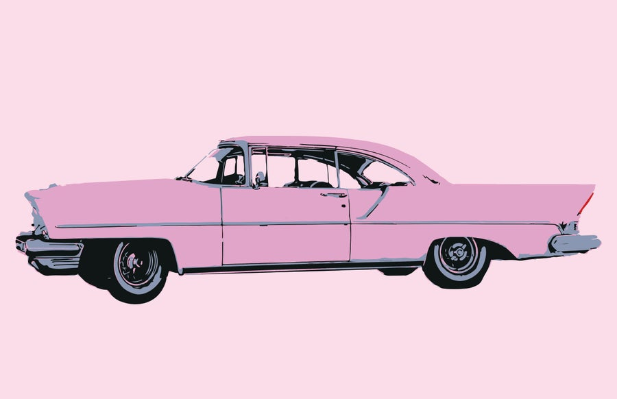 Image of Pink Car - Art Print