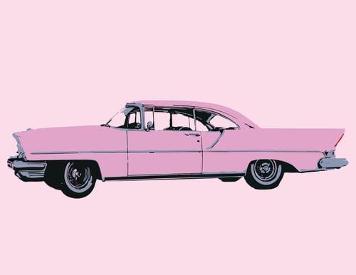 Image of Pink Car - Art Print
