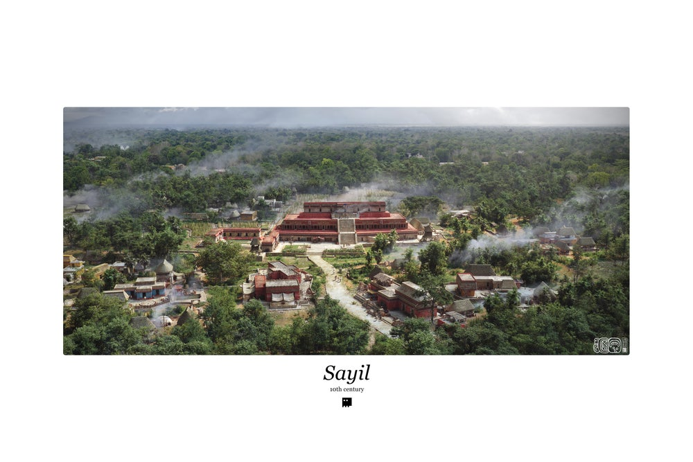 Image of The city of Sayil / 10th Century / Color