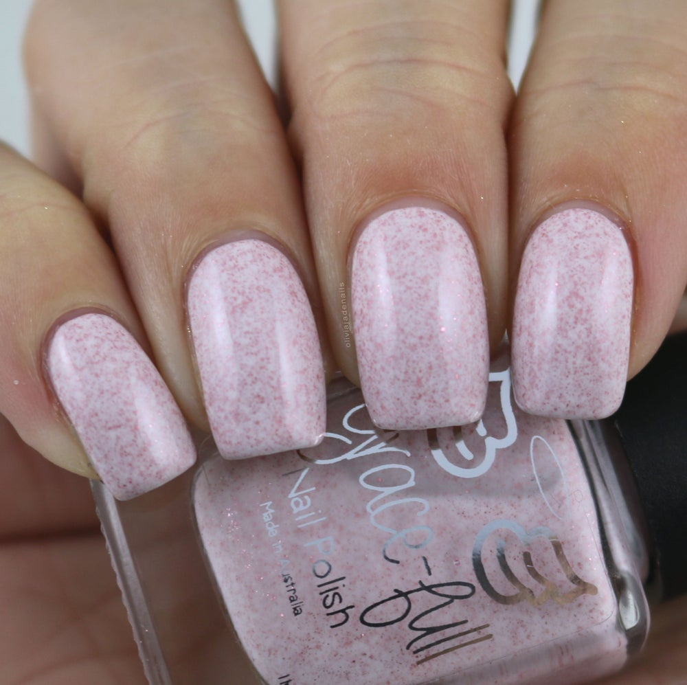Image of The Perfect Nanny - super soft pink crelly with teeny rose gold metallic flakes throughout