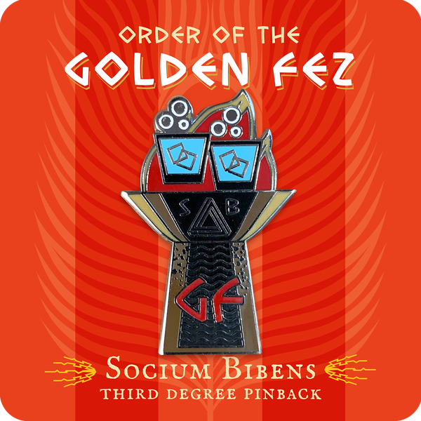 Image of Order of the Golden Fez Socium Bibens 3rd Degree Enameled Pin