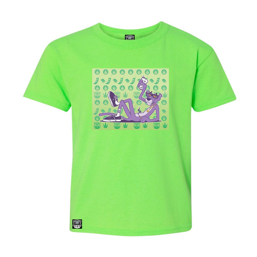 Image of Kush Green Purple Panther Shirt