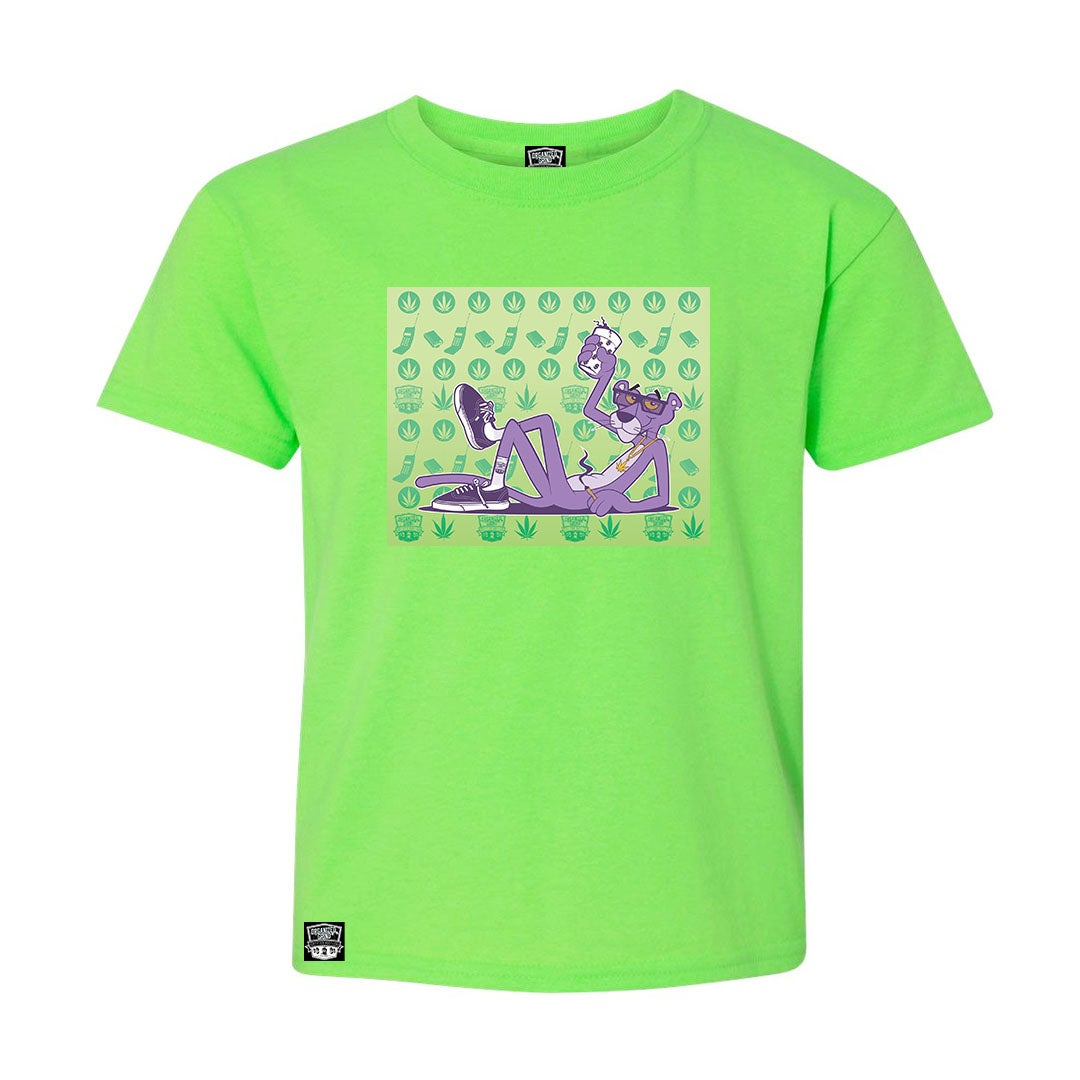 Image of New Kush Green Purple Panther Shirt
