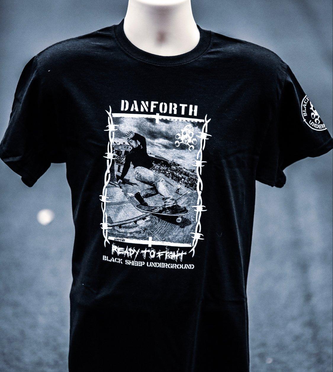 Image of **NEW**Bill Danforth Ready to Fight black ts Grant Brittain photo.