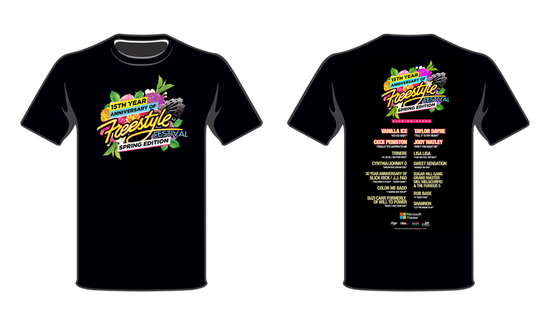 Image of Concert T-Shirt- Freestyle 15th Anniversary Spring Edition