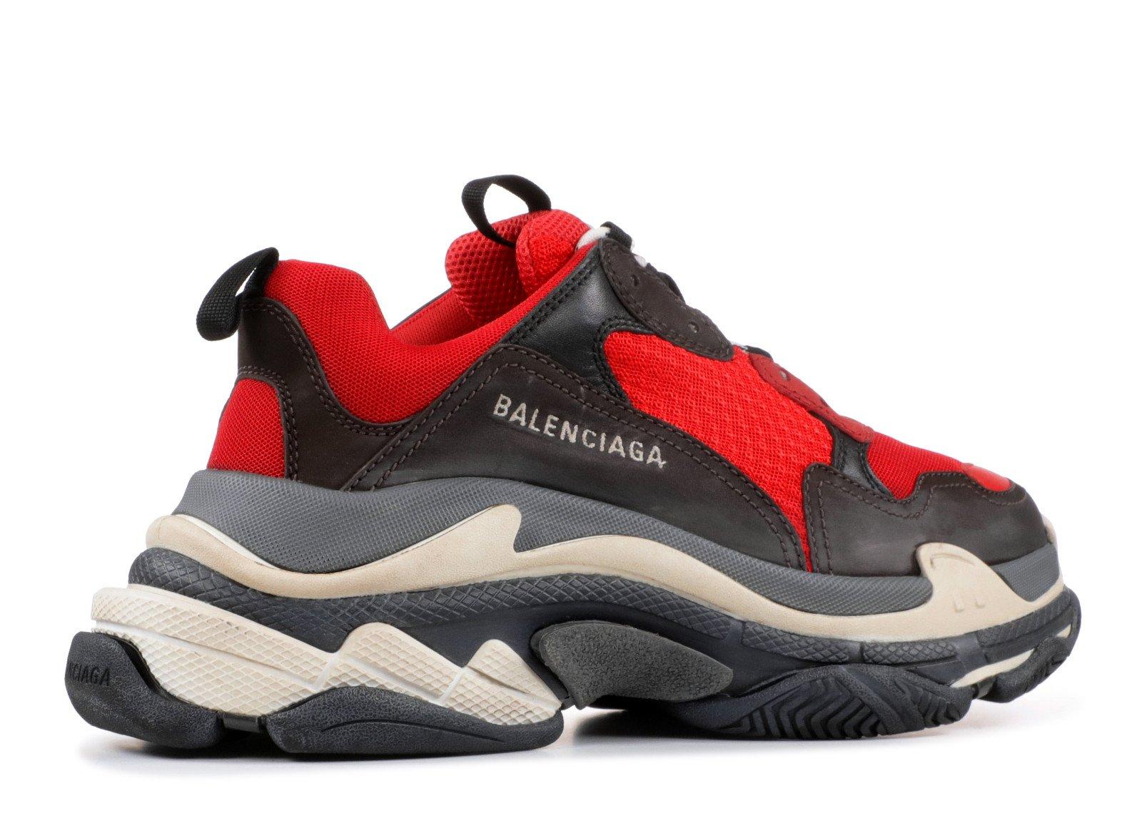 BALENCiAGA Men s Triple S Mesh Leather Sneakers Black
