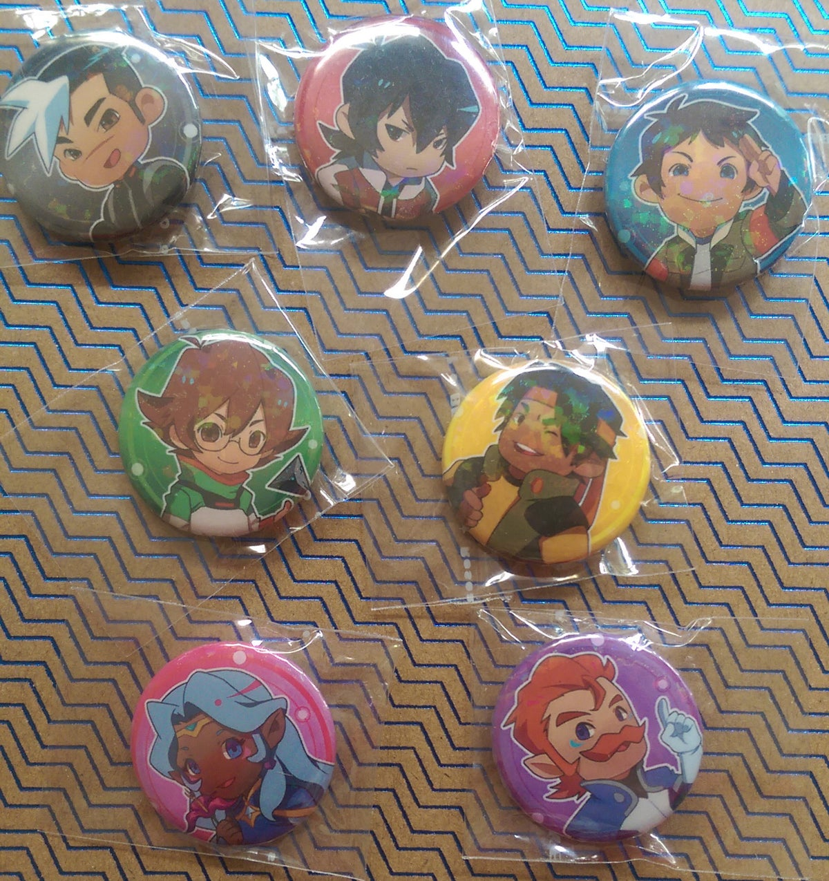Image of Voltron Holographic Buttons