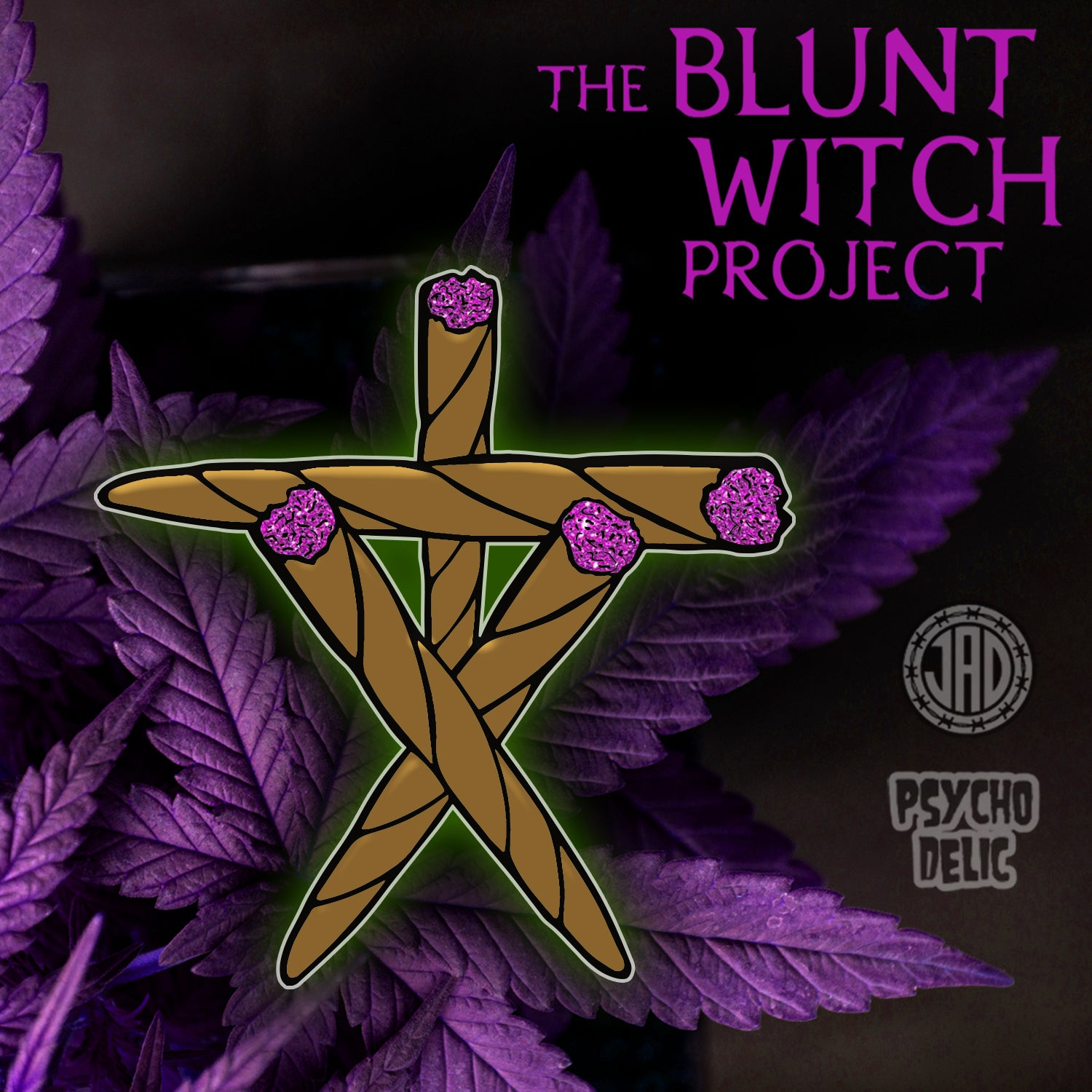 Image of Blunt Witch Project Purp Glitter (Enamel Pin)