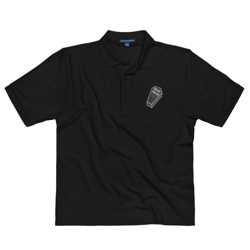 Image of Dead Inside Polo - Black