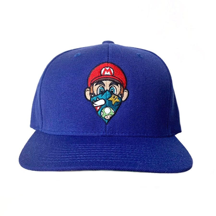 Image of NEW royal blue Mario SnapBack