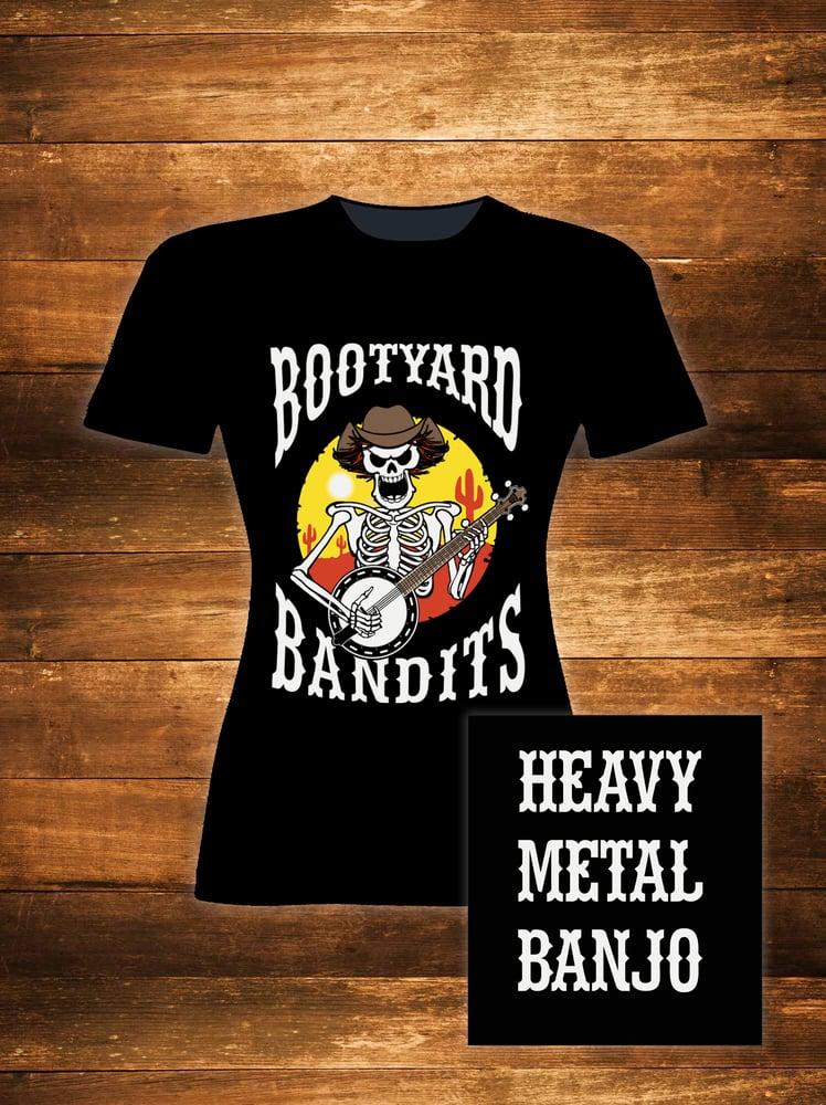Image of 'HEAVY METAL BANJO' Girlie T-shirt