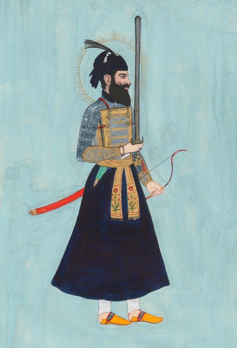 Image of Fine Art Print - Dasam Patshah in Battle Outfit - A4