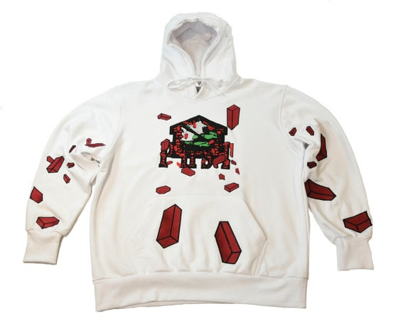 "Image of PHST (WAR ZONE)   ""BRICK TANK HOODIE"" EMBROIDERED"