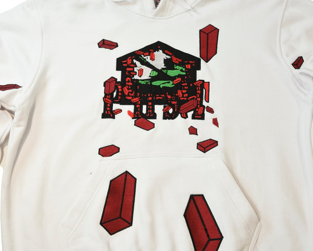 """Image of PHST (WAR ZONE)   """"BRICK TANK HOODIE"""" EMBROIDERED"""