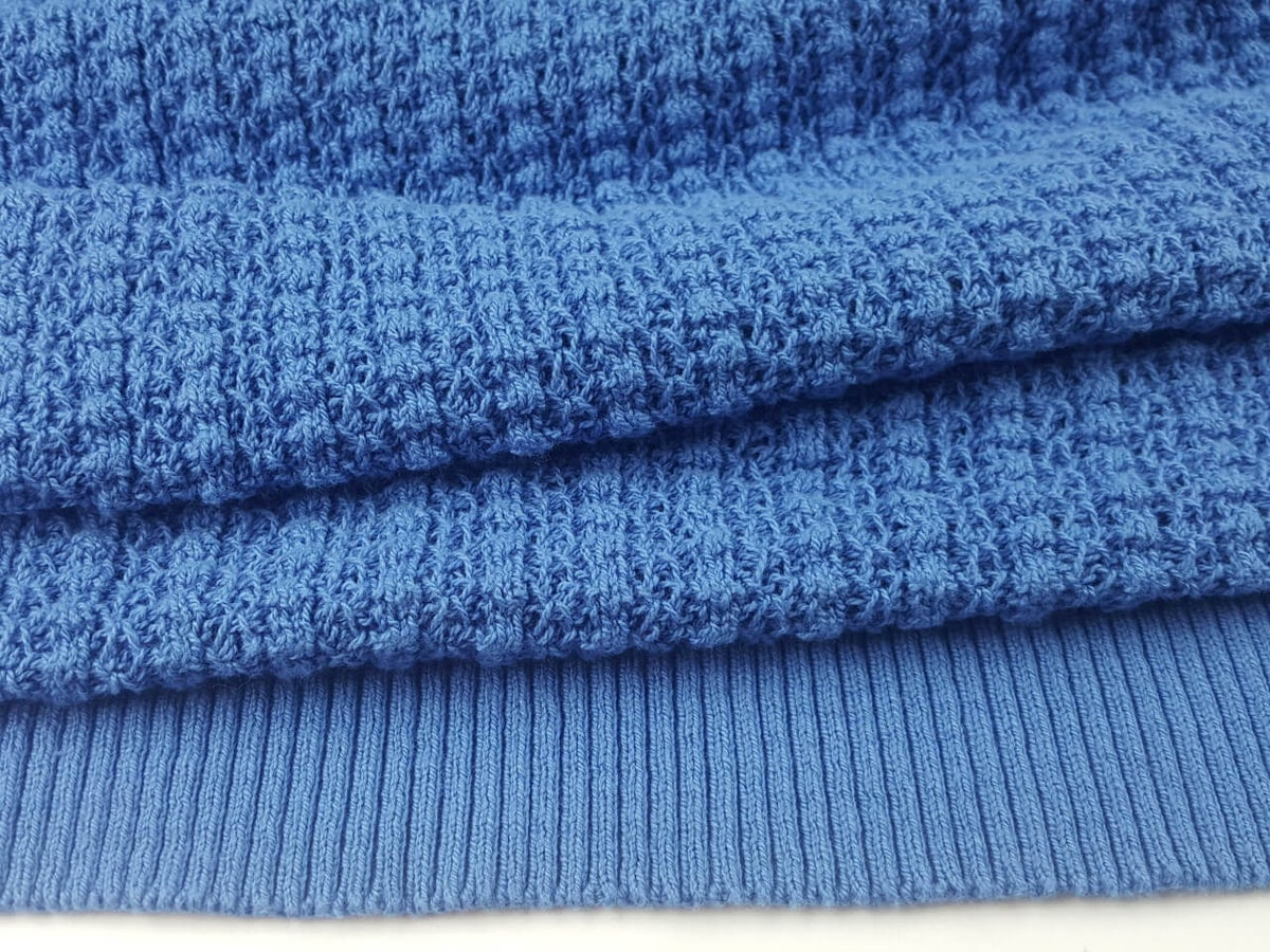 Image of Dyed Cotton - Saratoga Rib - Blue Jay (by the half yard)