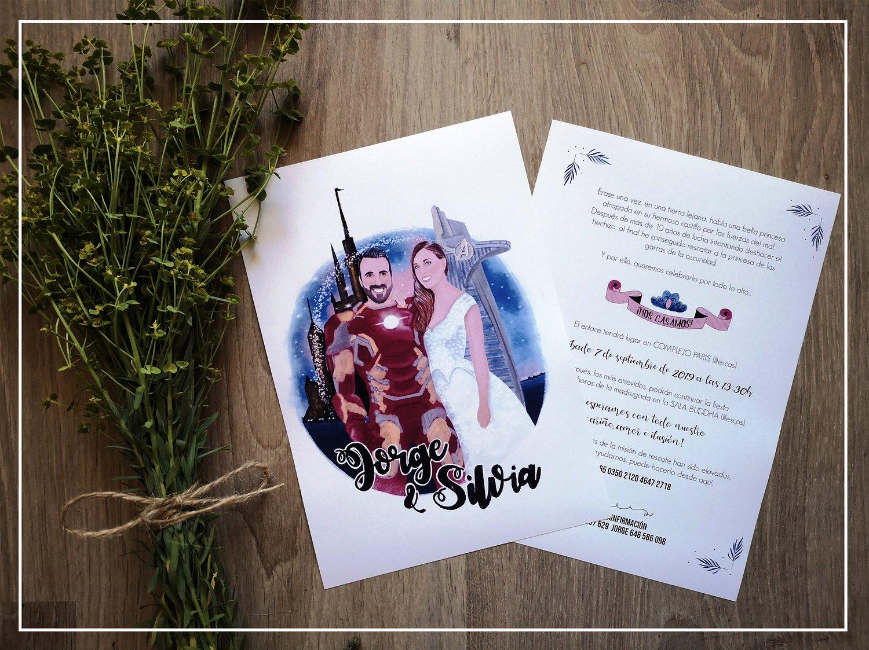 Image of Invitaciones de boda (doble cara) / Wedding invitations (two sides)