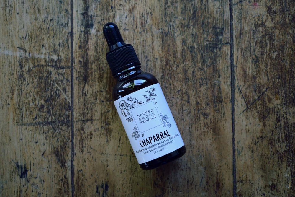 Image of Chaparral Tincture   Creosote Bush, Chaparral, Larrea tridentata   Wildharvested   Herbal Extract