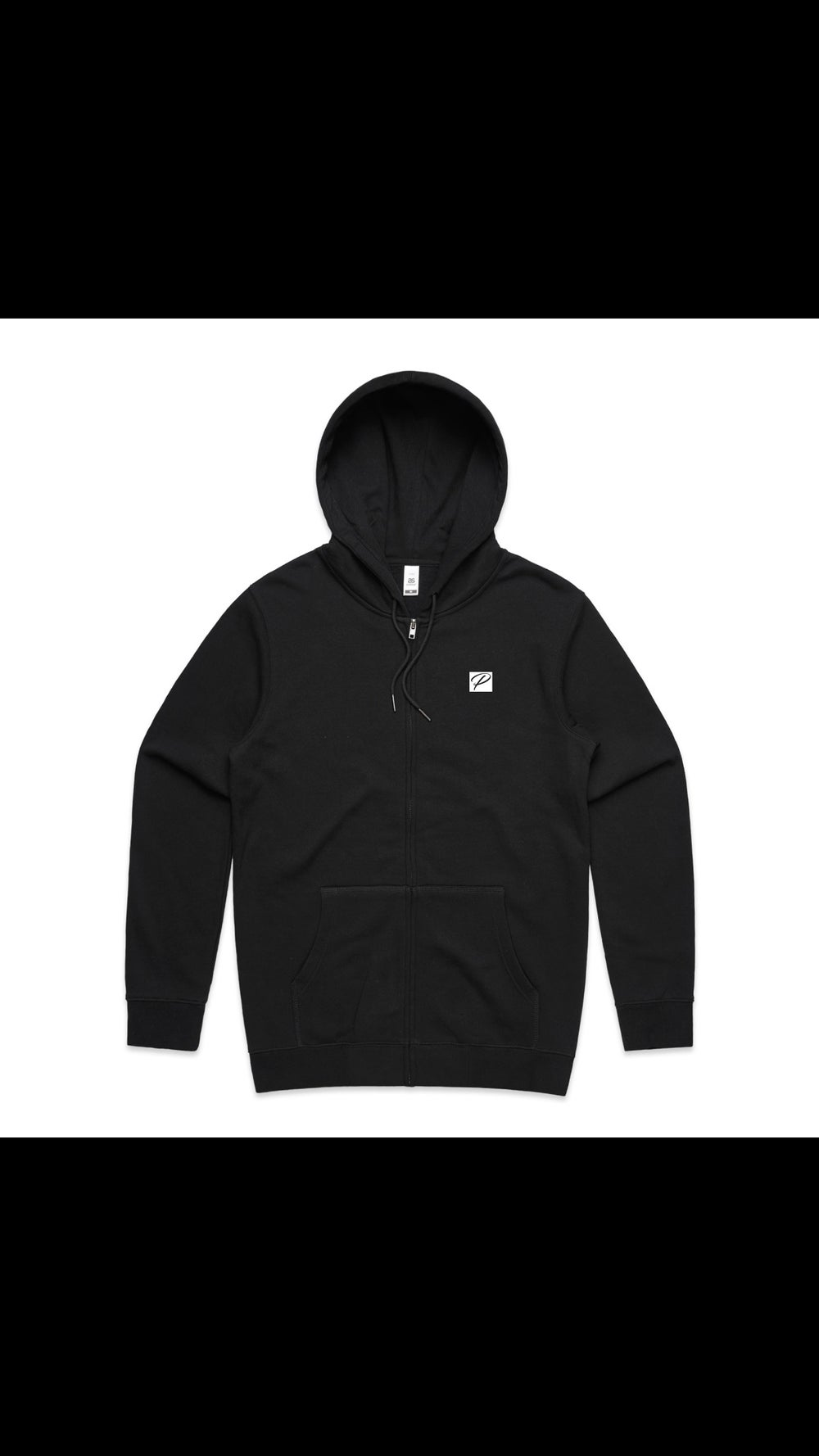 NEW BRAND PRODIGY BLACK ZIP UP HOODIE P PATCH EMBROIDERED