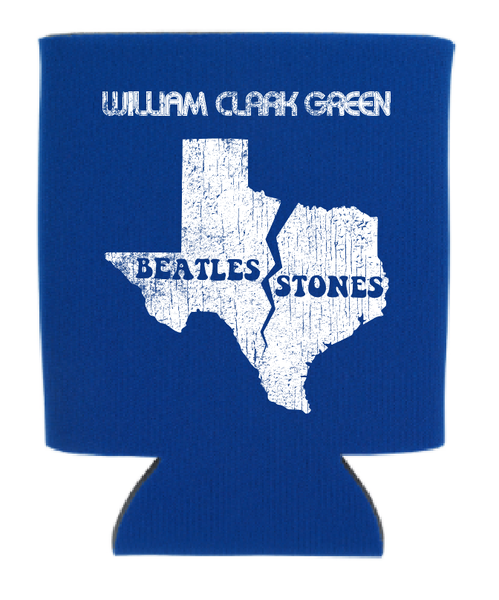 Image of Blue Beatles Stones Koozie